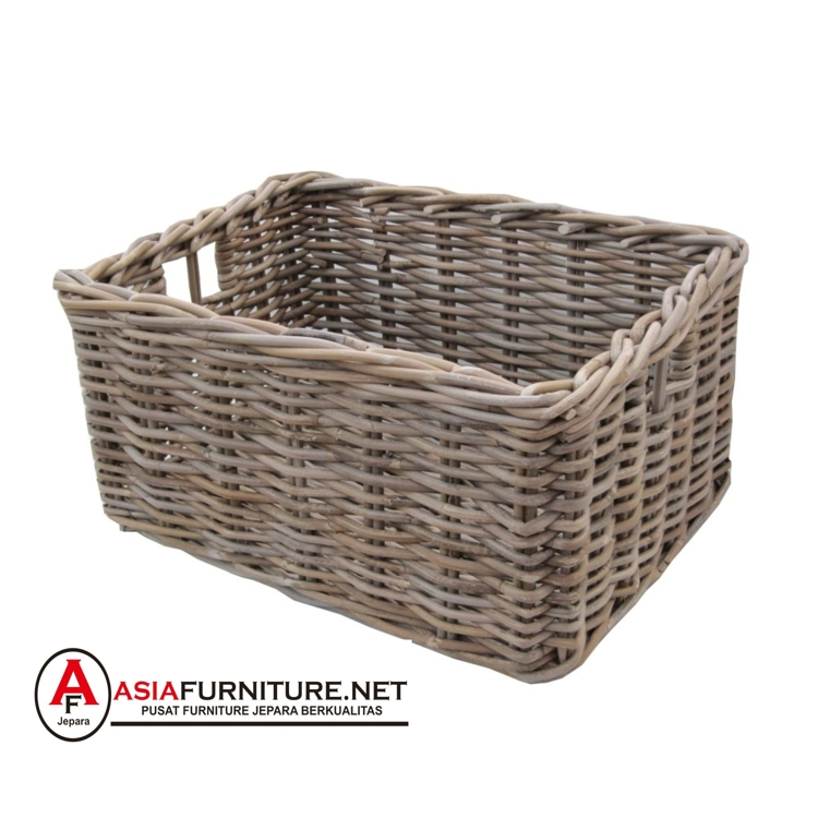 Kubu Rattan Extra Large Square Log Storage Basket