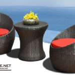 Kursi Teras Rotan Sintetis Villa Pantai Bali