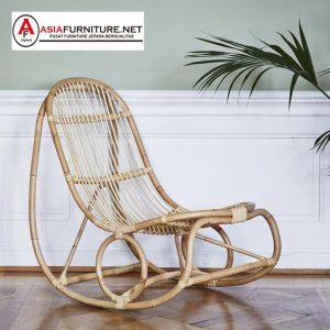 Natural Rattan Rocking Chair