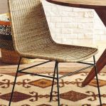 Open Weave Rattan Dining Chair