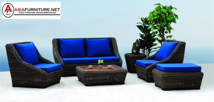 Set Kursi Sofa Rotan Sintetis Apartemen Medan