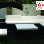 Set Kursi Sofa Rotan Sintetis Hotel Palembang