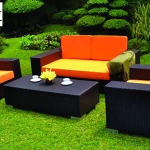 Set Kursi Sofa Rotan Sintetis Outdoor Fungsional Palangkaraya