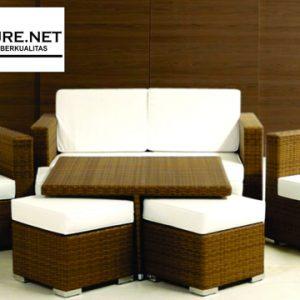 Set Kursi Sofa Sintetis Indoor Hotel Padang