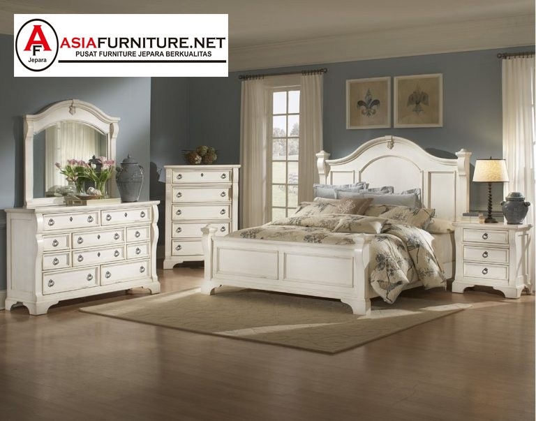 Set Tempat Tidur Minimalis Warna Putih
