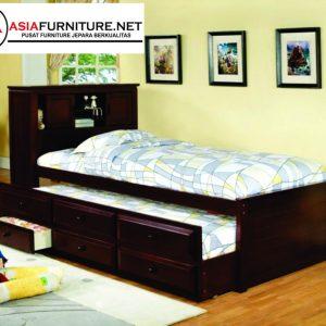 Tempat Tidur Anak Jati Serbaguna