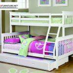 Tempat Tidur Tingkat Sorong Warna Putih