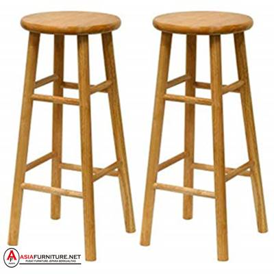 Kursi Bar Stool Kayu Jati