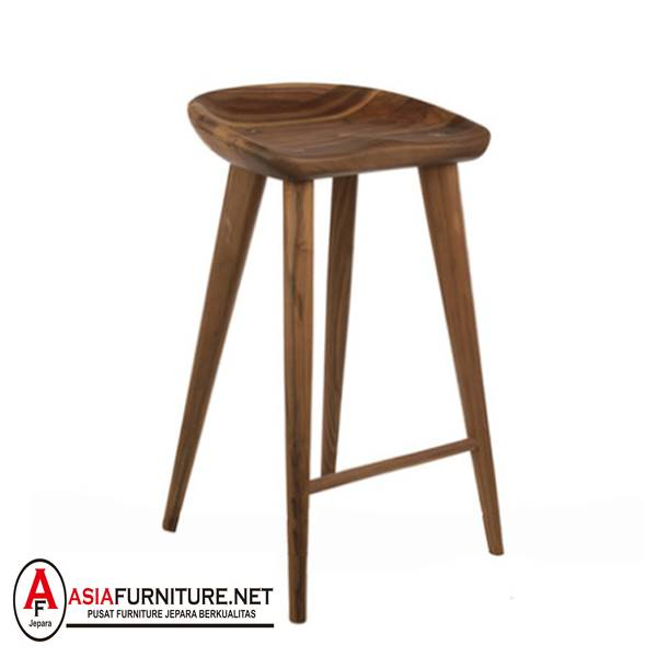 Kursi Bar Stool Mini Kayu Jati