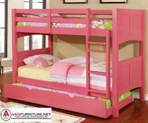 Tempat Tidur Susun Perempuan Pink