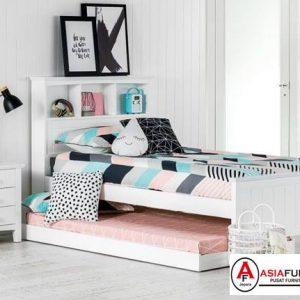 Tempat Tidur Anak Sorong Anak Dengan Rak