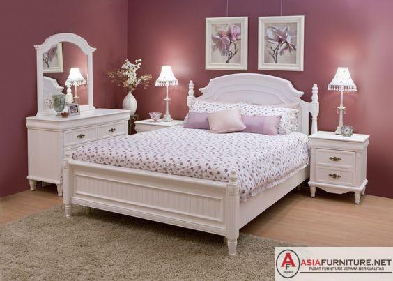 Kamar Set Mewah Warna Duco Putih