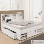 Tempat Tidur Laci Putih Minimalis