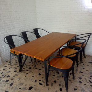 Set Kursi Cafe Besi Vintage | Meja Kursi Kafe Restoran