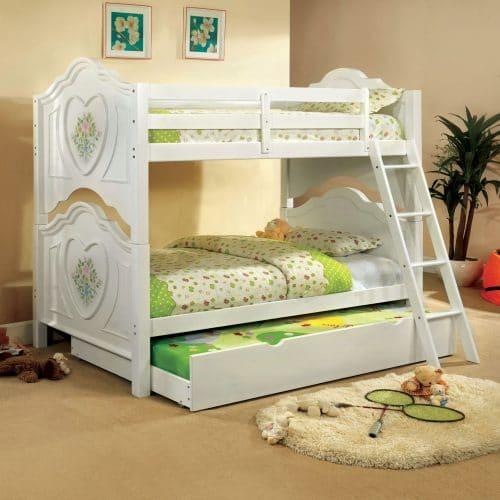 Tempat Tidur Tingkat Warna Putih