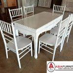 Set Meja Makan Tiffany Putih