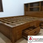 Tempat Tidur Minimalis Jati 2 Laci