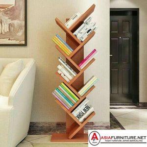 Rak Buku Minimalis Stand Rack Kayu Jati