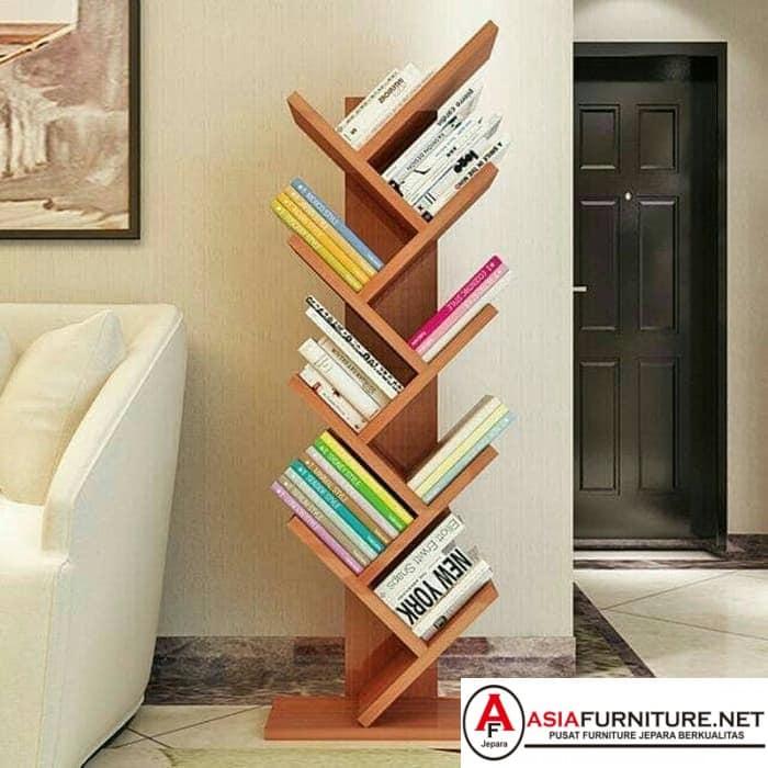 Rak Buku Minimalis Stand Rack Kayu